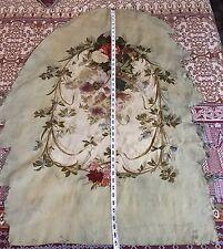 Antique 18 C Aubusson français tissée main soie Tapisserie Panneau Chaise Cover