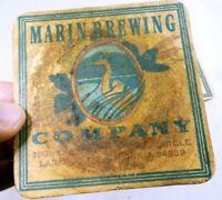 Marin Brewing Co Larkspur California Bar Coaster Beer lot 3 Free Shipping USA