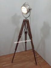 Best Designer Nautical Spot Search Light Floor Lamp Tripod Brown Wood Stand