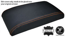 ORANGE STITCHING ARMREST CARBON FIBER VINYL COVER FITS SKYLINE R32 GTS GTR 89-93