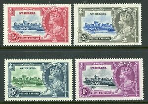 British 1935 KGV Silver Jubilee St. Helena Sc #111-114 Mint Non Hinged Y272