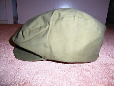 Vintage Style Green Olive Newsboy Cabbie Gatsby Cap Golf Driving Hat 7-1/8 7