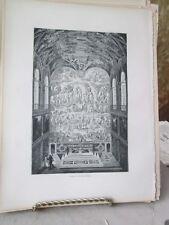 Vintage Print,ALTAR CHAPEL,Rome,Franics Wey,1872
