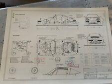 Neues AngebotPorsche 911/964 Targa 1988 Konstruktionszeichnung/ Blueprint.