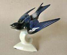 Gerold Porcelain SWALLOW Bird in Flight Figurine 6400/1P Bavaria Germany Vintage
