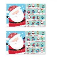 4 PACK LARGE DRAWSTRING CHRISTMAS SANTA SACK STOCKING BAG GIFT PRESENT FRIENDS