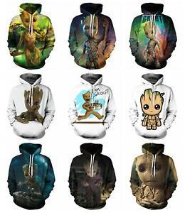 Guardians of the Galaxy Groot 3D Print Women/Men Fashion Hoodie Sweatshirt 2021