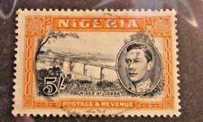 NIGERIA Sc# 64, Θ used ,Niger at Jebba, bridge, postage stamp