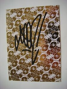 RARE Graffiti Street Art carton SEEN (USA) 1st Pop Up Show © 2009 Lyon SIGNED !