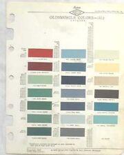1953  OLDSMOBILE ACME  COLOR PAINT CHIP CHART ALL MODELS ORIGINAL
