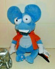 """The Simpsons Blue Mouse """"Itchy"""" Plush Toy- 2006 - 20Th Century Fox - Tag Mistake"""