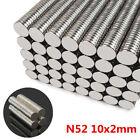 100X Neodym Mini Magnet Scheiben-Magnete N52 10x2mm rund extra-starke Haftkraft