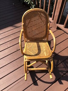 Vintage Wicker Childs Rocking Chair