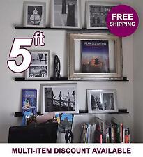 60in ultraLEDGE Black Metal Floating Shelf, Picture Ledge, Photo & Art Display