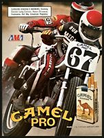 1986 AMA MOTORCYCLE RACING Camel Pro Race Camel Cigarettes Photo AD