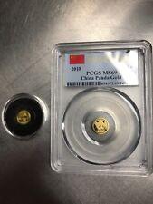 2 Gold 10Yn Panda 1gm coins 2017 & 2018 PCGS MS69