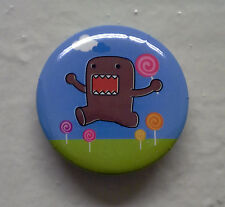 """BRAND NEW Lollipop Domo kun 1.25"""" Button Pin ~ Officially Licensed"""