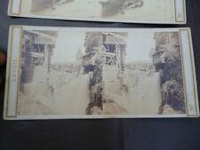 Double vue pour Stereoscope en relief Cascade de Grezy ' Aix les Bains '