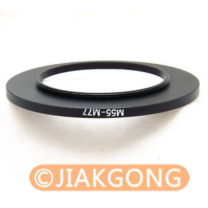 55mm-77mm 55-77 mm Step Up Filter Ring Stepping Adapter