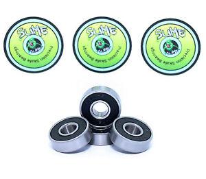 Scooter Bearings Pack of 4 Titanium Slime ABEC9 608RS Bearings