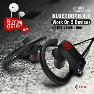 Wireless Earphone Bluetooth 4.1 In-Ear Headsets Sport Earbuds Stereo with Mic