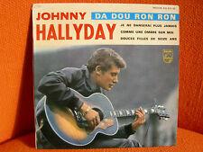 VINYL 45 T – JOHNNY HALLYDAY : DA DOU RON RON + 3 – YEYE ROCK 1963
