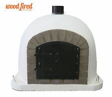 Outdoor wood fired Pizza oven 100cm x 100cm Deluxe model black and grey