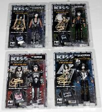 "KISS Band MONSTER 12"" Figure Set SEALED Gene Simmons Paul Eric + Tommy SIGNED"