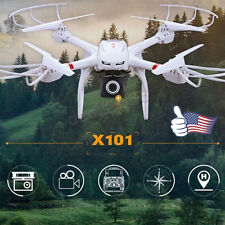 MJX X101 2.4G 3D Roll 6-Axis FPV Wifi RC Quadcopter Camera 64Drone Helicopter US