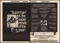 SUPERMAN: The Movie__Original 1979 Trade print AD promo / poster__RICHARD DONNER