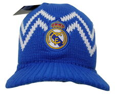 Real Madrid FC Visor Beanie Winter Hat Cap New W/Tags OSFM K3Y02 Blue
