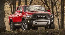 """2016 DODGE RAM 1500 HEMI RED PICK UP TRUCK 43"""" x 24""""  LARGE HD WALL POSTER PRINT"""