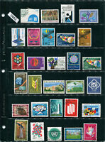 2463-64 UN-aprox 48 used/MH/MNH stamps from various years-2 scans