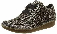 Clarks Funny Dream Black/White Suede Womens Shoes Size UK 4D