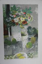 """""""Fleurs des champs"""" Lithographie signée PETIT Jacques"""