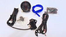 D1 Spezial 60mm JDM Schritt motorisiert schwarze Anzeige 2 Leisten Schub Anzeige