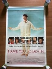 I LOVE YOU TO DEATH PROMO MOVIE POSTER KEVIN KLINE RIVER PHOENIX KEANU REEVES