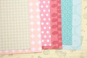 Pink & Blue scrapbooking paper polka dots geometric 250gsm fancy craft cardstock