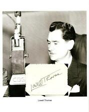 Lowell Thomas Autograph Broadcaster Lawrence of Arabia With Allenby Palestine #2