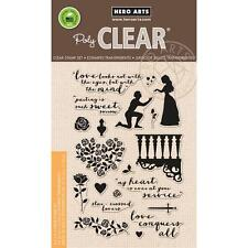 Hero Arts Poly Clear Stamp Set Romeo & Juliet Balcony Roses Love