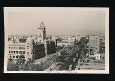 Pakistan KARACHI Panoramic view across Bunder Rd c1950s? RP PPC