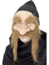 Latex Old Man Mask Creepy Face Halloween Costume Wrinkled Skin Beard Adult
