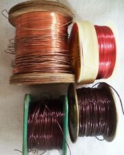 (4) Spool Assorted Copper Wire - 28, 24,18 AWG & (2)
