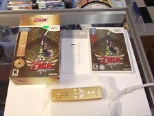 The Legend of Zelda: Skyward Sword w/ Gold Remote Bundle Limited Edition NEW