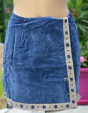 COP COPINE - Jolie jupe portefeuille bleu modèle axe - taille 1 - EXCELLENT ÉTAT