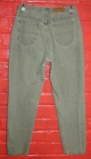 Vintage Lee Riders Relaxed Fit Green Denim Jeans Size 16 Medium 32 x 30
