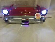 1957 Chevy Car Wall Shelf Lighted LED Headlights Red Chevrolet
