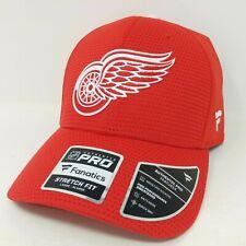 Detroit Red Wings Nhl Hockey Fanatics Stretch Fit Cap - Adult L/Xl, Red