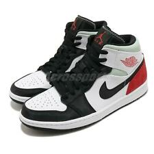 Nike Air Jordan 1 Mid SE Track Red Black Toe White Union-Style Men 852542-100