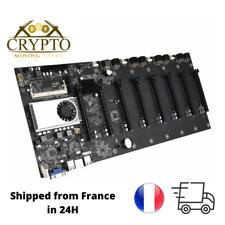 BTC-37 Cryptocurrency Mining Machine Motherboard Carte Mère CPU 8 PCI Slot DDR3